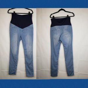 Pinkblush Jeans - Pinkblush Women's maternity pants size Large slim
